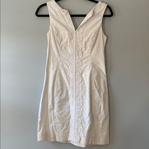 Lily Pulitzer white embroidered dress